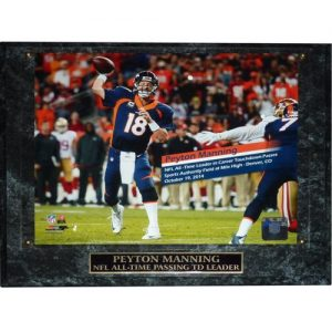 Peyton Manning Denver Broncos (509th TD Pass Horiz) 8x10 Photo Plaque