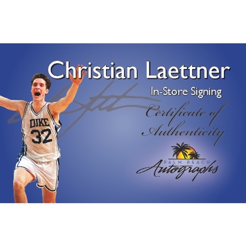 "Christian Laettner Autographed Duke Blue Devils (1992 Final Four) 8x10 Photo w/ ""The Shot"""