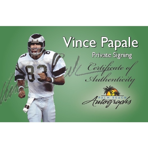 6158097e1bf Vince Papale Autographed Philadelphia Eagles (Green  83) Deluxe Framed  Jersey