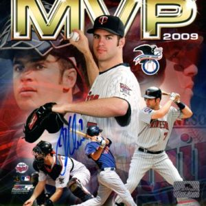 Joe Mauer Autographed Minnesota Twins (2009 MVP Collage) 8x10 Photo