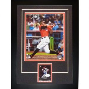 """Giancarlo Mike Stanton Autographed Miami Marlins """"Signature Series"""" Card Frame - JSA"""