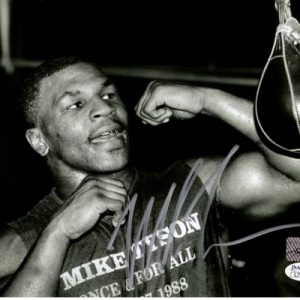 Mike Tyson Autographed Boxing (Speed Bag) 8x10 Photo - JSA