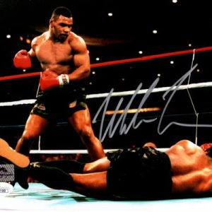 Mike Tyson Autographed Boxing (Knock Out) 8x10 Photo - JSA