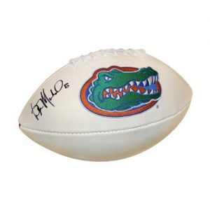 Wilber Marshall Autographed Florida Gators Logo Football