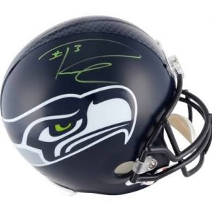 Russell Wilson Autographed Seattle Seahawks Deluxe Full-Size Replica Helmet - RW Holo
