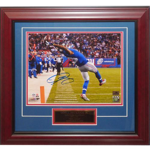 Odell Beckham Jr. Autographed New York Giants (The Catch) Deluxe Framed 11x14 Photo