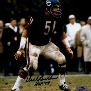 "Dick Butkus Autographed Chicago Bears 8x10 Photo w/ ""HOF 79"" - TriStar"