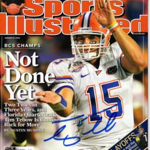 Tim Tebow Autographed Sports Illustrated (Not Done Yet 1-19-09) Magazine - Tebow Holo