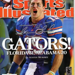 Tim Tebow Autographed Sports Illustrated (Gators 12-15-08) Magazine - Tebow Holo