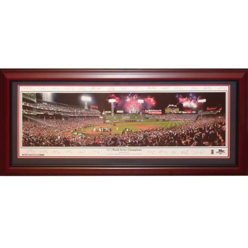 Boston Red Sox (2013 World Series Champions with Signatures) Deluxe Framed Panoramic Photo