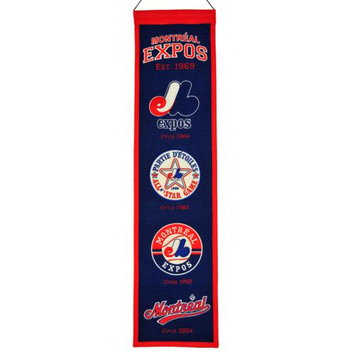 Montreal Expos Logo Evolution Heritage Banner