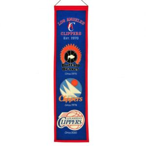 Los Angeles Clippers Logo Evolution Heritage Banner