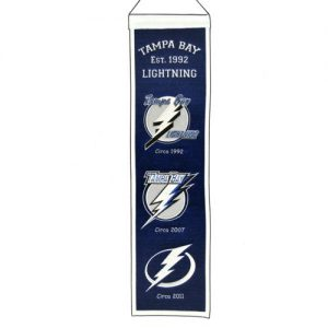 Tampa Bay Lightning Logo Evolution Heritage Banner