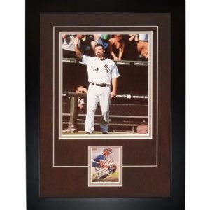 "Paul Konerko Autographed Chicago White Sox (Farewell) ""Signature Series"" Card Frame"