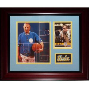 John Wooden Autographed UCLA Bruins Deluxe Framed Tribute Piece
