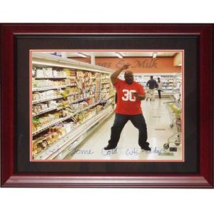 "Ickey Woods Autographed Commercial Deluxe Framed 16x20 Photo w/ ""Get Some Cold Cuts Today!"""