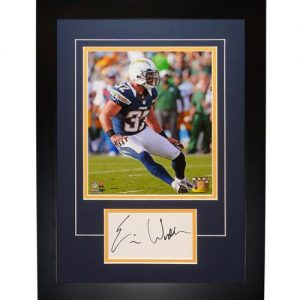"Eric Weddle Autographed San Diego Chargers ""Signature Series"" Frame"