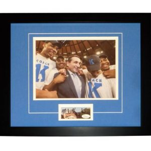 "Mike Krzyzewski Autographed Duke Blue Devils (1000 Win) ""Signature Series"" Frame"