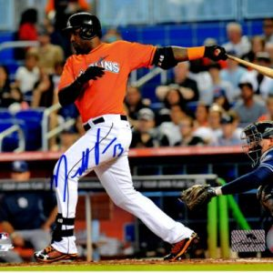 Marcell Ozuna Autographed Miami Marlins (Horiz) 8x10 Photo