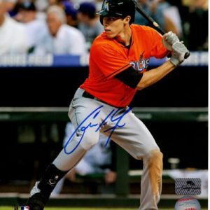 Christian Yelich Autographed Miami Marlins 8x10 Photo