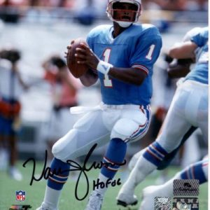 "Warren Moon Autographed Houston Oilers 8x10 Photo w/ ""HOF 2006"""
