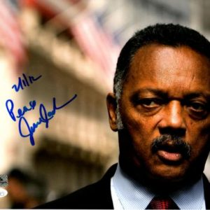 Reverend Jesse Jackson Autographed 11x14 Photo - JSA