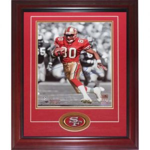 Jerry Rice Autographed San Francisco 49ers (Spotlight) Deluxe Framed 11x14 Photo w/ Patch - Rice Holo