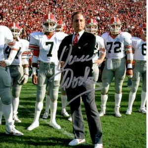 Vince Dooley Autographed Georgia Bulldogs (with Team) 8x10 Photo