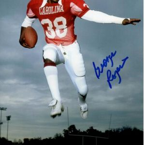 George Rogers Autographed South Carolina Gamecocks (Jumping) 8x10 Photo