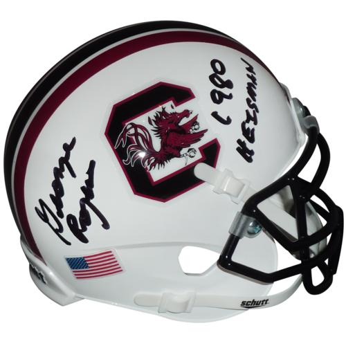 "George Rogers Autographed South Carolina Gamecocks Schutt Mini Helmet w/ ""1980 Heisman"""