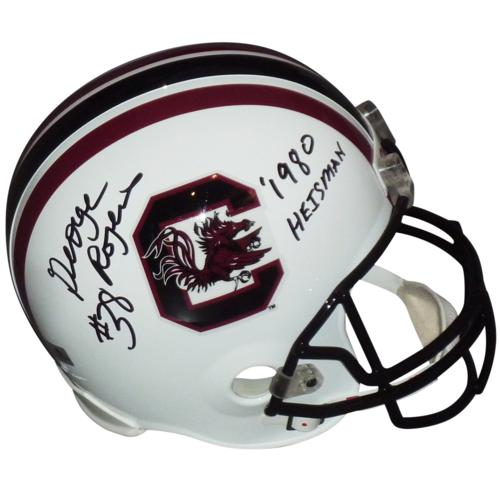 "George Rogers Autographed South Carolina Gamecocks Deluxe Full-Size Replica Helmet w/ ""1980 Heisman"""
