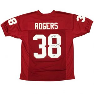 "George Rogers Autographed South Carolina Gamecocks (Red #38) Custom Jersey w/ ""1980 Heisman"""