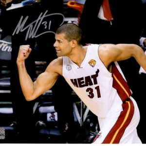 Shane Battier Autographed Miami Heat (NBA Finals Horiz) 8x10 Photo