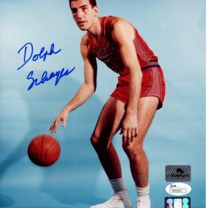 Dolph Schayes Autographed Philadelphia 76ers (Syracuse Nationals) 8x10 Photo - JSA