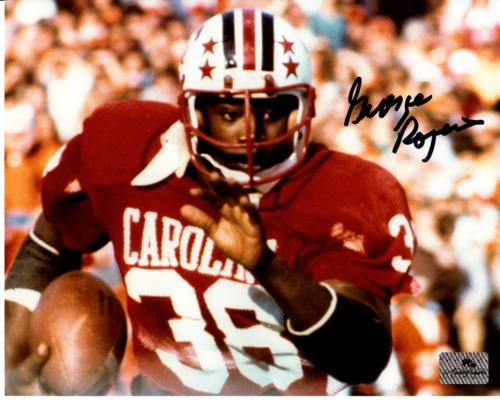 George Rogers Autographed South Carolina Gamecocks (Horiz) 8x10 Photo