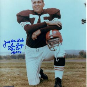 "Lou Groza Autographed Cleveland Browns 8x10 Photo w/ ""The Toe"""