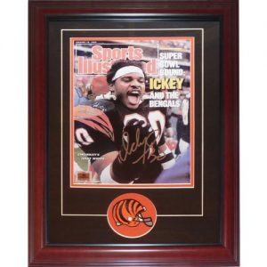 "Ickey Woods Autographed Cincinnati Bengals (Sports Illustrated) Deluxe Framed 11x14 Print w/ ""Who Dey"""