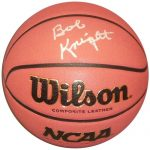 Bobby Knight Autographed NCAA Basketball – Indiana Hoosiers