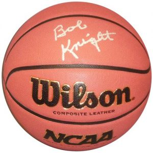 Bobby Knight Autographed NCAA Basketball - Indiana Hoosiers