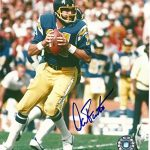 Dan Fouts Autographed San Diego Chargers (Blue Jersey) 8×10 Photo