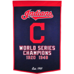 Cleveland Indians World Series Championship Dynasty Banner – with hanging rod