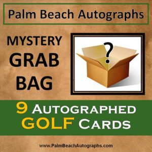 MYSTERY GRAB BAG - 9 Autographed Golf Cards