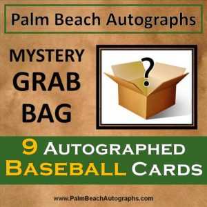 MYSTERY GRAB BAG - 9 Autographed Baseball Cards - Assorted Teams