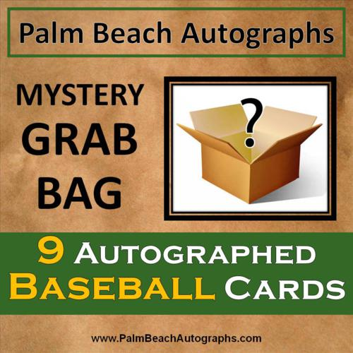 Mystery Grab Bag 9 Autographed Baseball Cards Assorted Teams