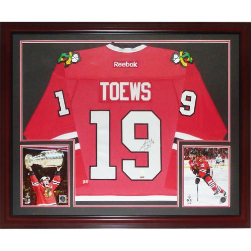 61244bd0477 Jonathan Toews Autographed Chicago Blackhawks (Red #19) Deluxe Framed Jersey  – Frameworth
