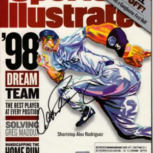 Alex Rodriguez Autographed Seattle Mariners (1998) Sports Illustrated Magazine - JSA