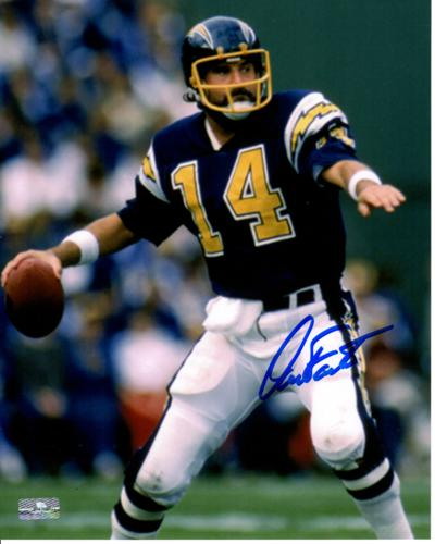Dan Fouts Autographed San Diego Chargers (White Pants) 8x10 Photo