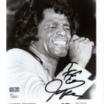 James Brown Autographed Music (BW) 8×10 Photo – JSA Letter