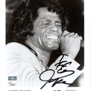 James Brown Autographed Music (BW) 8x10 Photo - JSA Letter