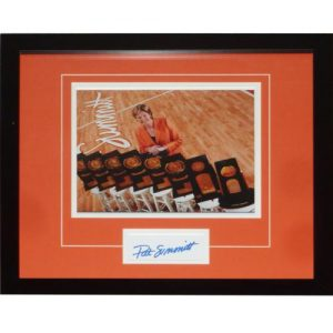 "Pat Summitt Autographed Tennessee Lady Vols (Trophies) ""Signature Series"" Frame"